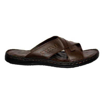 Sandale Cuir Orthopédique Marron