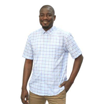 Chemise carreau homme manche courte